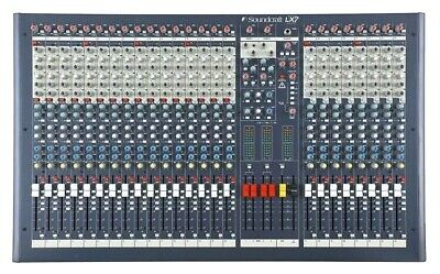 Soundcraft LX7ii 24-channel, 4-bus Live/Studio Mixer With 4-band EQ. Great Cond. • 574.67£