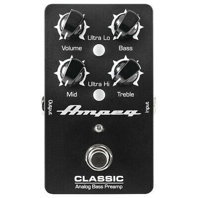 Ampeg Classic Analog Bass Preamp Pedal Open Box Mint • 80.77£