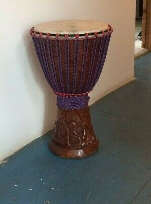 Genuine African 14  Djembe With Half Price Drum Bag. • 150£