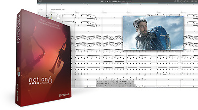 New PreSonus Notion 6 Music Notation Upgrade From Previous Versions EDelivery • 40.98£