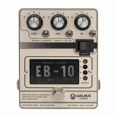 Walrus Audio EB-10 Preamp // EQ // Boost [Cream] [DEMO] • 158.31£