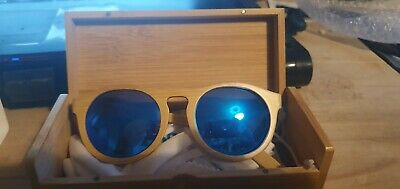 Bamboo, Black Walnut, Zebra Wood Sun Glasses Shades Blue Orange Red , Green Lens • 19.99£