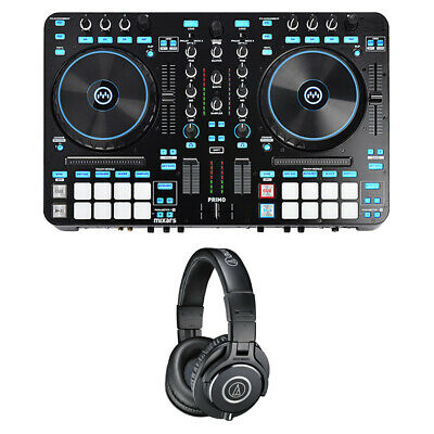 Mixars Primo 2 Channel Pro DJ Controller/ Mixer With ATHM40X Studio Headphones • 434.56£