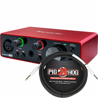 Focusrite Scarlett Solo 2x2 USB Audio Interface 3rd Gen W/ TRS Cable • 106.79£