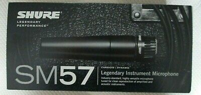 Legendary Shure Sm57 Cardioid/dynamic Instrument Microphone New In Box!  • 67.43£