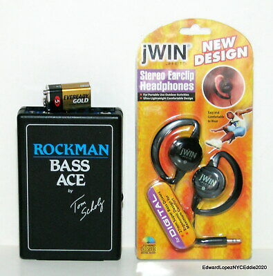 ROCKMAN BASS ACE By Tom Scholz - Guitar/Bass Headphone Amp W/Phones & Battery  • 52.68£