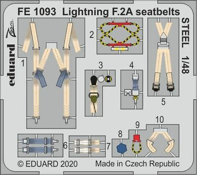 Eduard 1/48 BAC/EE Lightning F.2A/F.6 Seatbelts STEEL Zoom Set # FE1093 • 6.48£