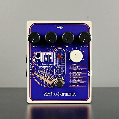 Electro-Harmonix SYNTH9 Synthesizer Machine Pedal • 158.31£