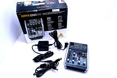Behringer Xenyx Q502USB 5-Input 2-Bus Mixer Board W/ Power Supply & USB Cable • 90.83£