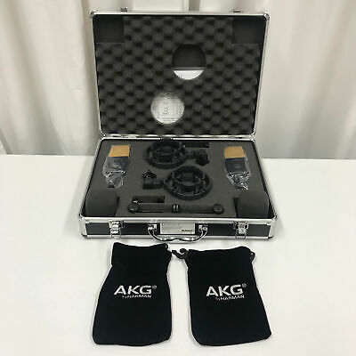 AKG C414 XLII Matched Pair Condenser Microphones Factory Re-Certified • 1,604.36£