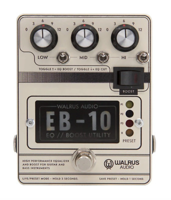 Walrus Audio EB-10 Preamp//EQ//Boost Pedal, Cream • 176.85£
