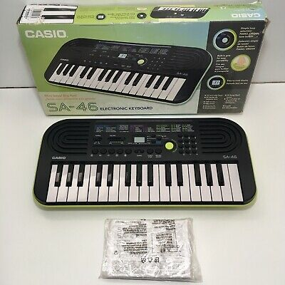 Casio SA-46 32 Mini-Keys Keyboard In Green Boxed With Instructions • 27.99£