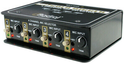 Radial Engineering Gold Digger: 4-Channel Mic Selector • 270.04£