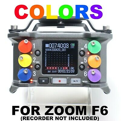 Custom Colored Replacement Fader Knobs For Zoom F6 (Field Recorder Not Included) • 26.61£