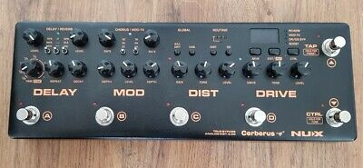 NUX Cerberus Guitar Multi Effects Guitar Pedal - The Perfect 'Fly-Rig'! • 140£