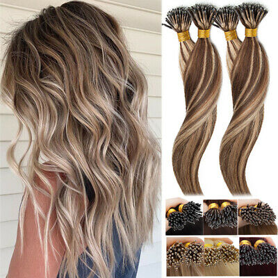 Balayage NANO RING Wefts 100% Remy Human Hair Extensions Micro Beads 150G THICK • 109.44£