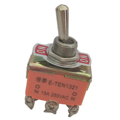 Toggle Switch, AC 250V 15A, 6 Pin Rocker DPDT ON/ON 2 Position • 3.44£