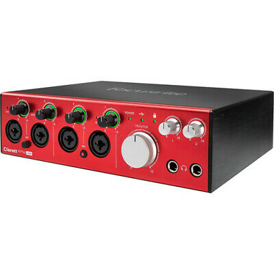 Focusrite Clarett 4Pre USB 18-in/8-out Audio Interface • 506.01£
