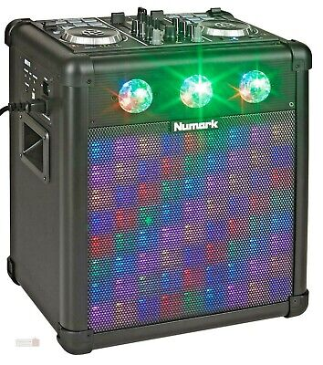 DJ Controller Party Mix PRO Portable Easy Tote Wheels Mixing With Lights DJ • 263.90£