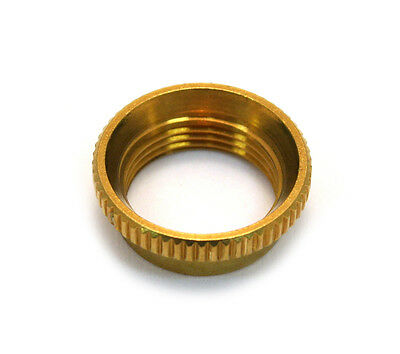 (1) Gold Deep Thread Nut For Switchcraft® Guitar/Bass Toggle Switch EP-4923-002 • 7.09£