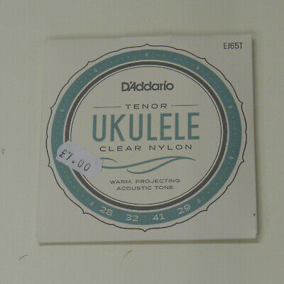D'Addario EJ65T Clear Nylon Tenor Ukulele Strings • 4.95£