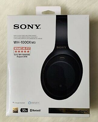 BRAND NEW SEALED Sony WH-1000XM3 Wireless Noise Cancelling Headphones - Black. • 210£