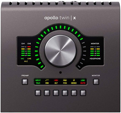 Universal Audio Apollo Twin X Duo Thunderbolt 3 Audio Interface, (Apltwxd) • 938.92£