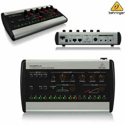 New Behringer P16-M Powerplay 16 Series 16-Channel Digital Personal Mixer P16M • 229.23£