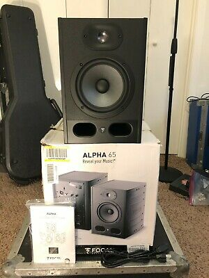 Focal Alpha 65 Powered Studio Monitor Active Reference Speakers Flat Response   • 249.17£
