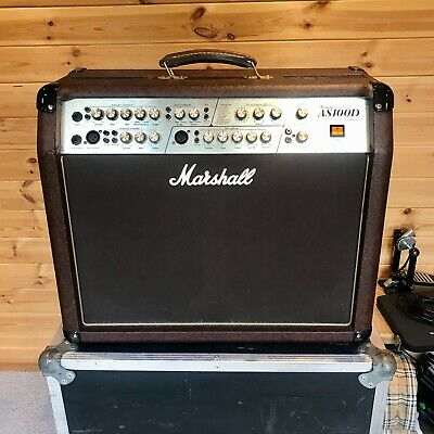 Marshall AS100D 2x8  Acoustic Guitar Amplifier With Flight Case • 350£