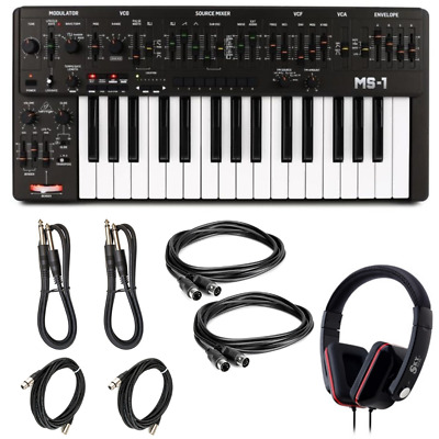 New Behringer MS-1 Black Analog Synthesizer With Live Performance Kit | MS-1-BK • 281.48£