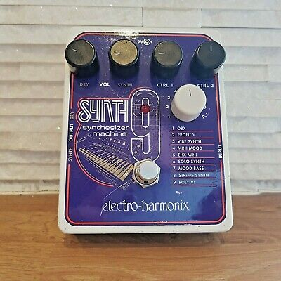 Electro Harmonix Synth9 Synthesizer Machine Guitar Effects Pedal (EHX Synth 9) • 159£