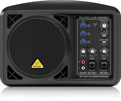 Behringer B205D Eurolive 150W Active Powered Portable Monitor PA Speaker RRP$239 • 95£