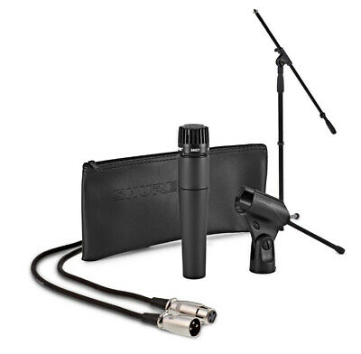 Shure SM57 Wired Microphone Complete Instrument Mic Bundle W/ Stand, Cable, Clip • 82.42£