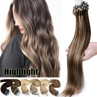 CLEARANCE Remy Micro Loop Ring Beads Human Hair Extensions Full Head 1G 150S UK • 85.73£