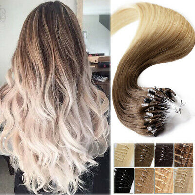 Ombre Thick Micro Loop Ring Beads Human Remy Hair Extensions 150G Nano Ring 4T60 • 80.06£