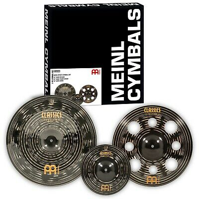 Meinl Classics Custom Dark Effects Cymbal Set (trash, China, Splash) • 289£