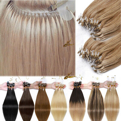 Extra Thick 150G Micro Loop Nano Ring Beads Human Remy Hair Extensions Full Head • 72.85£
