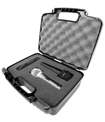 Microphone Case Fits Dual Shure SM57-LC Dynamic Cardioid Microphone, Case Only • 21.70£