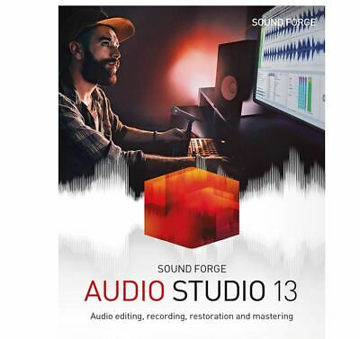 MAGIX SOUND FORGE Audio Studio 13, Genuine Download License, New, Unregistered • 17.99£