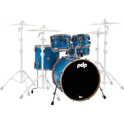 PDP by DW Concept Maple Ltd Edition Shell Pack in Blue/Orange