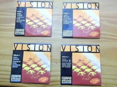 Set Of Vision 1/2 Size Violin Strings By Thomastik  Makers Of Dominant Strings