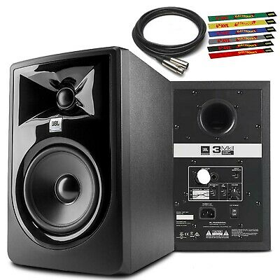 JBL 305P MkII 5  Powered Studio Monitor +10 Ft. XLR And 6-Pack Reusable Cable Ti • 120.37£