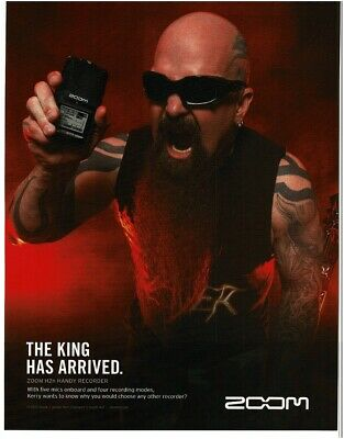 2012 ZOOM H2N Handy Recorder KERRY KING Of Slayer Magazine Ad • 7.33£