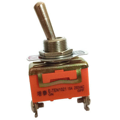 Toggle Switch, AC 250V 15A, 2 Pin Rocker SPST ON/OFF 2 Position • 2.61£