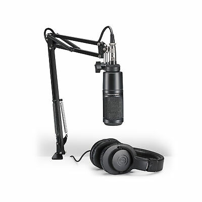 Audio-Technica AT2020 Studio Microphone Pack With ATH-M20x, Boom & XLR Cable • 107.31£