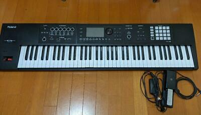 Used Roland Synthesizer Keyboard FA-07 W/Power Adapter Pedals Manual O • 1,337.92£