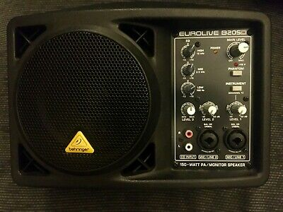 Behringer B205D Eurolive 150W Active Powered Portable Monitor PA Speaker RRP$239 • 90£