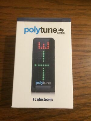 TC Electronic Polytune Clip-On Guitar Tuner - Black BRAND NEW • 49.99£