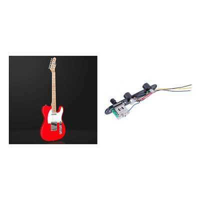 Black Tele Prewired Control Plate 3 Way Switch For Fender Telecaster Guitar • 7.19£